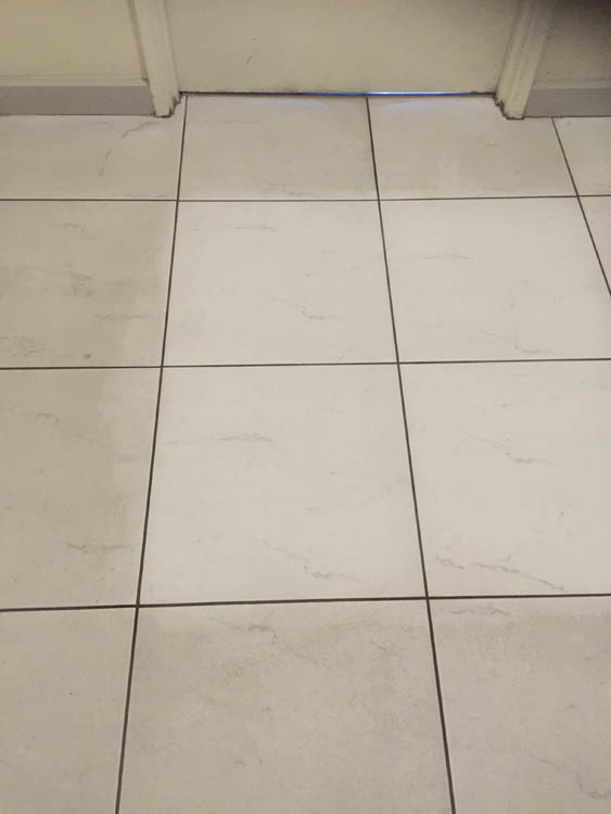 Tile Cleaning in Parkside client's home